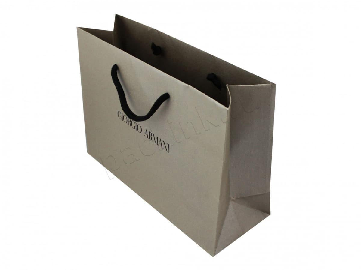 Картонный пакет с фирменным логотипом